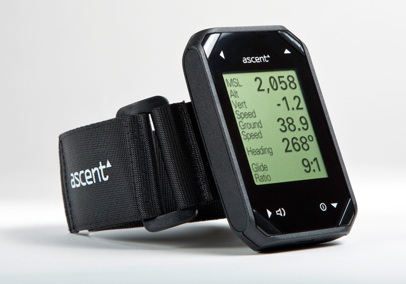 Ascent H1 mini Vario and GPS for Paragliding and Hang Gliding